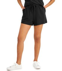 style & co french terry shorts, created for macy's