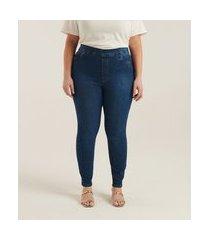 calça jegging jeans curve & plus size | ashua curve e plus size | azul | 48