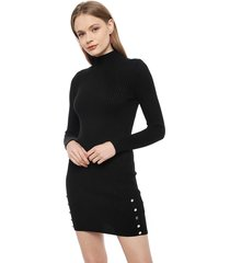 vestido eclipse corto negro - calce ajustado