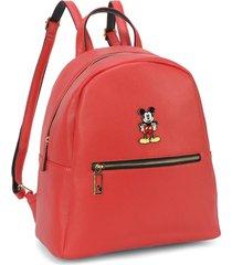 mini mochila luxcel mickey 78458 vermelha - vermelho - feminino - dafiti