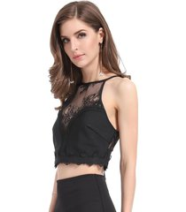 crop top transparencia negro nicopoly