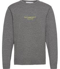 bulky knit grey gebreide trui met ronde kraag grijs han kjøbenhavn