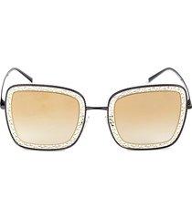 dolce & gabbana women's 52mm oversized square sunglasses - orange