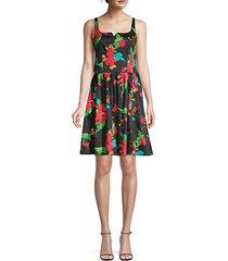tropical print cotton dress