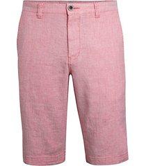 beach linen flat-front shorts