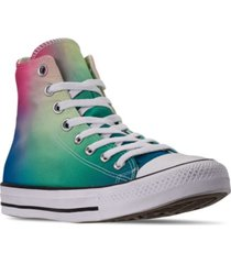 converse unisex chuck taylor all star psychedelic hoops tie-dye high top casual shoes