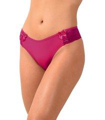 tanga vip lingerie com renda e laço bolinha rosa