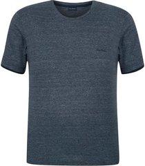 camiseta plus size malha flame moline marinho - kanui