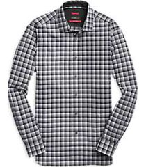 awearness kenneth cole awear-tech charcoal & black check sport shirt