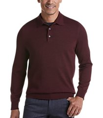 joseph abboud burgundy 37.5® technology polo sweater