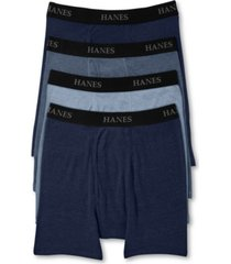 hanes men's platinum freshiq underwear, boxer brief 4 pack