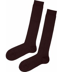 calzedonia - long stretch cotton socks, 42-43, brown, men