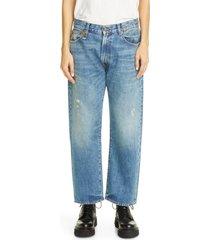 women's r13 distressed boyfriend jeans, size 29 - blue