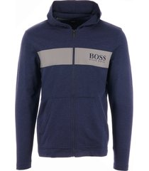 boss contemporary zip up hoodie - bright blue 50403455
