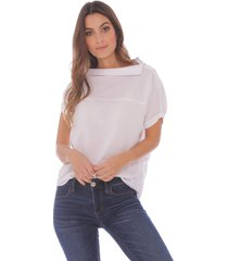 camisa con cuello irregular para mujer x49329