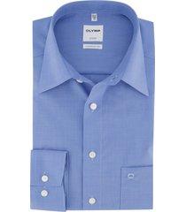 olymp luxor comfort fit overhemd french blue fit strijkvrij