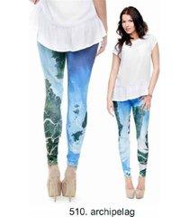 night moon 3d printing our world legging punk women legins stretchy trousers