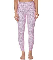 betsey johnson performance women's high-rise polka dot active leggings - starlite - size l