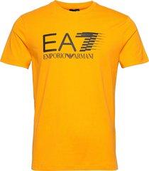 t-shirt t-shirts short-sleeved orange ea7