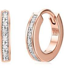 rose gold skinny diamond huggie earrings diamond