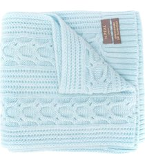 n.peal cable-knit cashmere scarf - blue