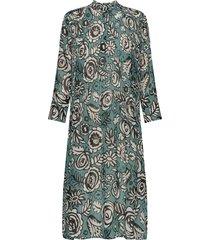 elm shirt dress aop 9695 knälång klänning grön samsøe samsøe