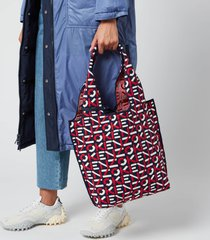 kenzo women's recycled monogram small tote bag - medium red