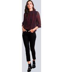 blus alba moda röd::svart