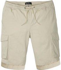 bermuda cargo con elastico in vita taglio comfort regular fit (beige) - bpc bonprix collection