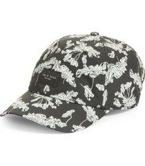 rag & bone addison baseball cap in black floral at nordstrom