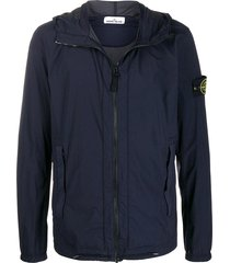 stone island casual jacket in blue polyamide