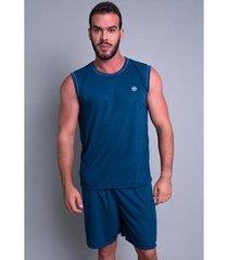 pijama mvb modas curto camiseta masculino - masculino