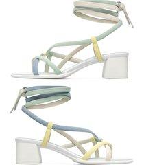 camper twins, sandali donna, verde/blu/beige, misura 41 (eu), k200779-003