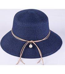 donna cappello estivo di paglia pieghevole traspirabile con uv protezione per vacanze spiaggia