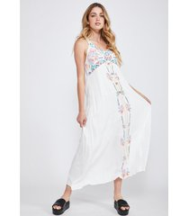 vestido bordado hippie blanco sioux