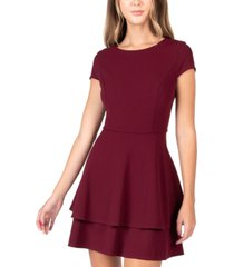 b darlin juniors' back-tie a-line dress