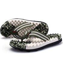 zapatillas de hombre sandalias de masaje - verde