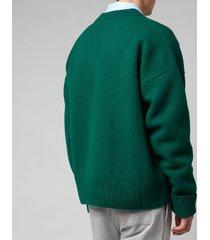 ami men's de coeur oversized cardigan - green - l