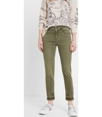 skinny exotic jeans - green - 46