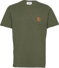 pocket tee mini logo t-shirts short-sleeved grön bls hafnia