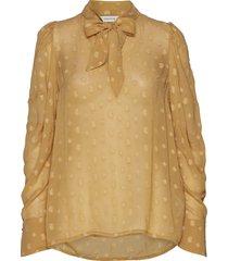 disco blouse lange mouwen beige munthe