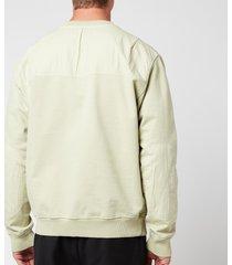 tom wood men's crewneck sweatshirt - dusty mint - xl