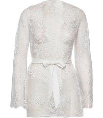 kimono allover lace amber morgonrock vit hunkemöller
