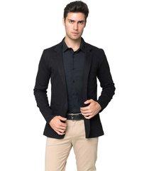blazer de sarja tony menswear com elastano preto