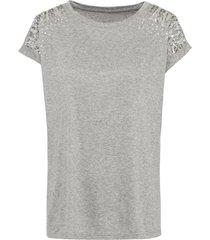 maglia con strass e paillettes (grigio) - bodyflirt