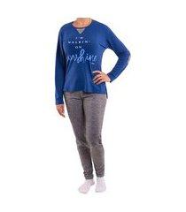 pijama feminino para o inverno elegance victory