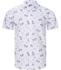 camisa print playa color negro, talla xs