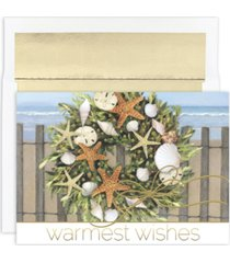 masterpiece studios warmest wishes wreath boxed cards