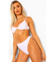 essentials korte bikini top met beugel, wit