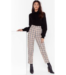 womens let's take a rain check tapered pants - beige